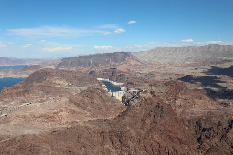 Flying near the Hoover Dam
