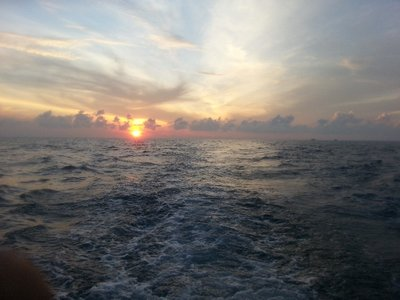 Sunrise view from the boat