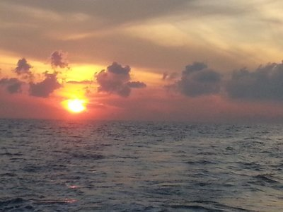 Sun rise view from the boat