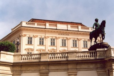 The Albertina by the Hofburg in Vienna
