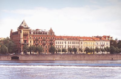 Taking a cruise along the Vltava River, Prague