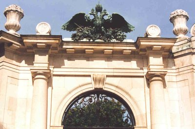 The Burggarten Gate at the Hofburg in Vienna, Austria