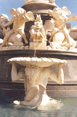 Detail of Athenebrunnen fountain in Vienna
