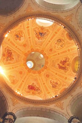 Frauenkirche church view of dome ceiling, Dresden