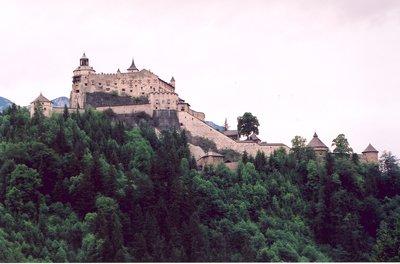 Hohenwerfen Fortress in Austria near Salzburg