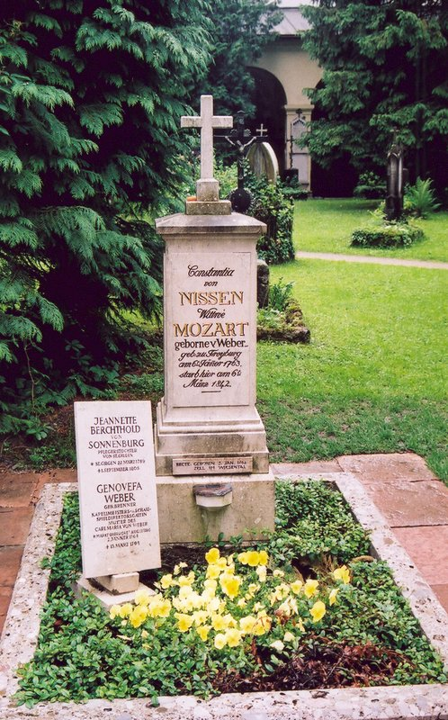 A gravestone of a Mozart family member in Salzburg