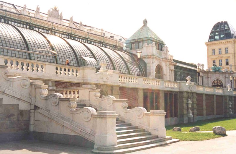 Butterfly House by Burggarten at Hofburg in Vienna