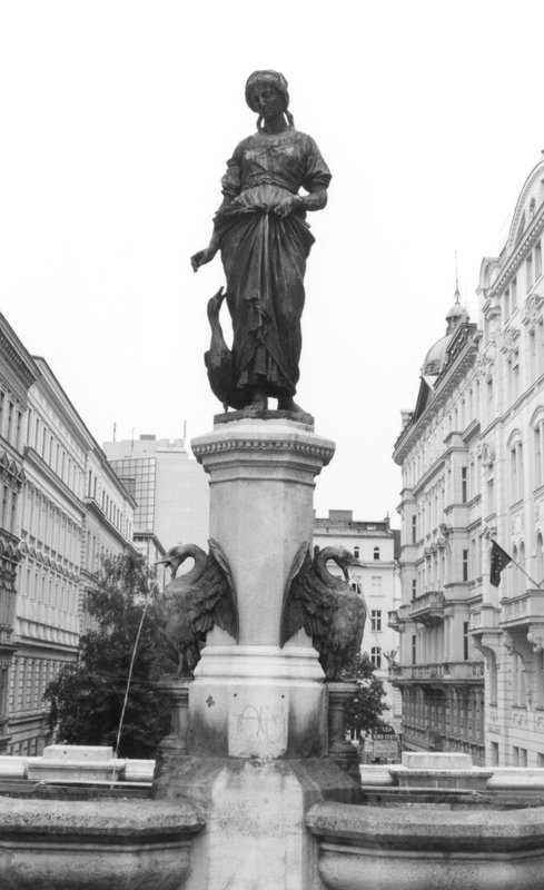 Duck herder waterfountain in Vienna Austria