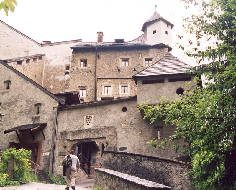 Entrance to Hohenwerfen Fortress in Austria