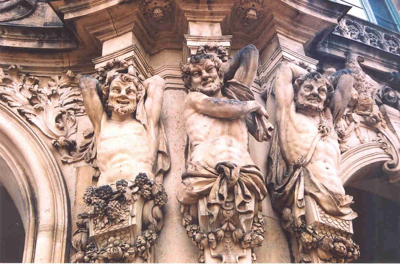 Herms on the Ramparts Pavilion, Zwinger Palace