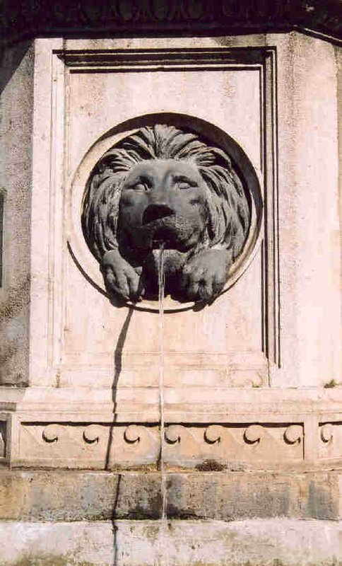 Lion waterfountain on Graben near Stephansdom, Vienna