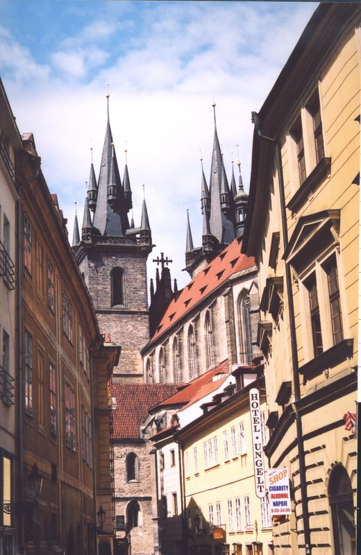 Spires of Church Of Our Lady Before Tyn, Prague