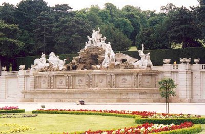 Neptune Fountains at Schonbrunn, Vienna