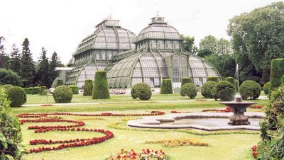 Palmhouse at Schonbrunn in Vienna