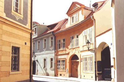 A side street in Prague, Czech Republic
