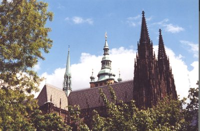 Spires of St Vitus's Cathedral at Prague Castle