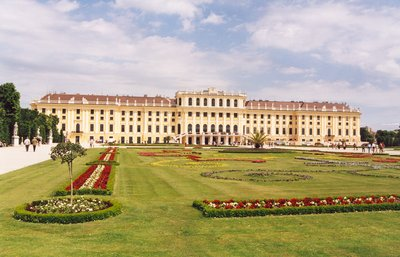Schonbrunn Palace view in Vienna