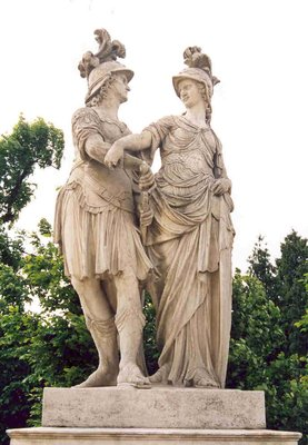 Statue pair on the grounds of Schonbrunn
