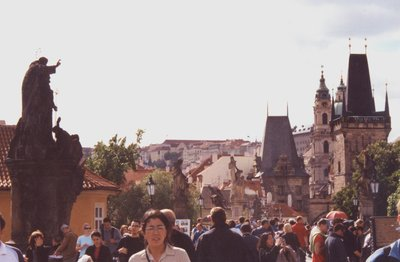 View on Charles Bridge in Prague, Czech Republic