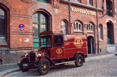 Vintage Coffee Delivery Truck in Hamburg