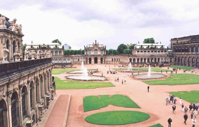 Zwinger Palace main courtyard grounds, Dresden