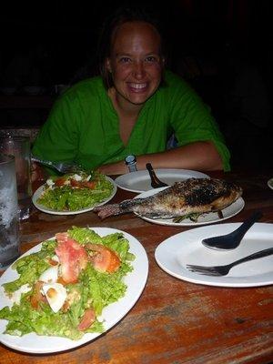 Dinner at homestay