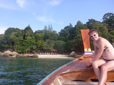 Bila beach from the longtail
