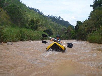 Becky rafting