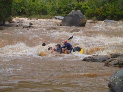 Sarah in the big rapids