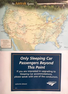 Sleeper Car Sign