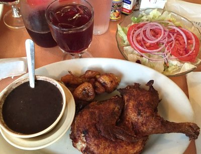 Half Baked Chicken at El Siboney Restaurant in Key West, FL