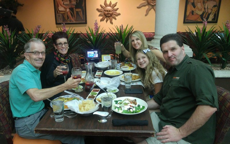 Dinner at Abuelos with Christy, Brooke & Lance