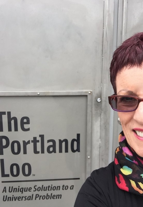 """The Portland Loo"" = free public porta-pots in Portland's Pearl District"