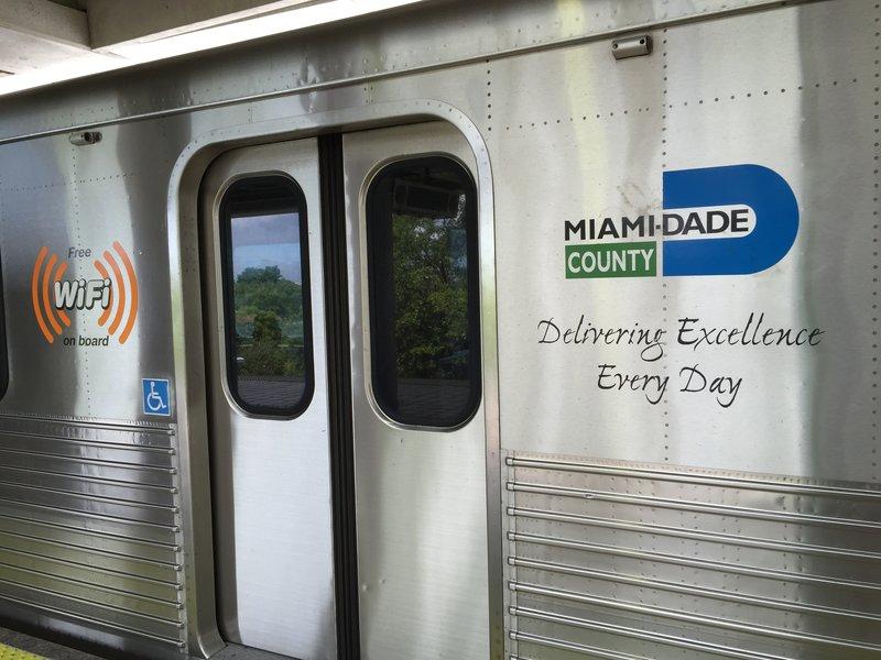 Miami's MetroRail System. Free WiFi even!!