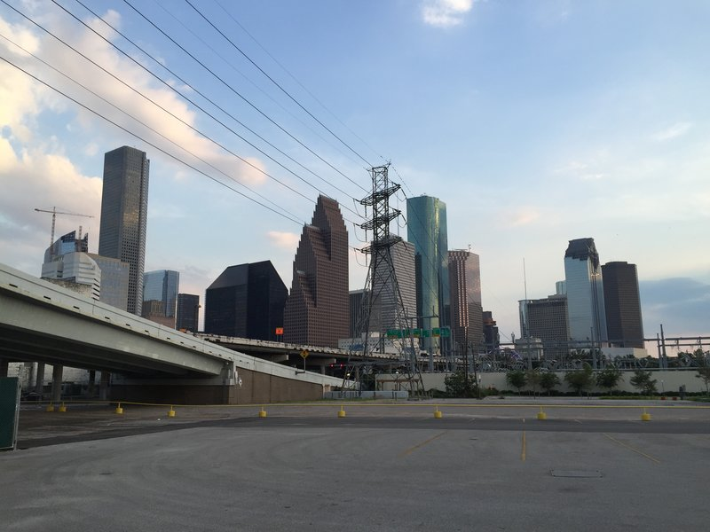 Downtown Houston as seen from the Amtrak station
