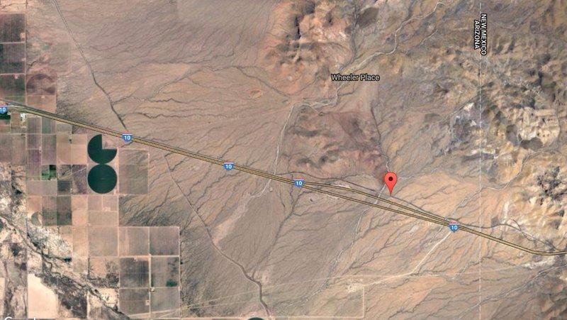New Mexico - Arizona Border - Satellite View