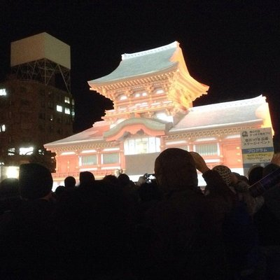 3D Mapping of an ice/snow sculpture @Odori Park site