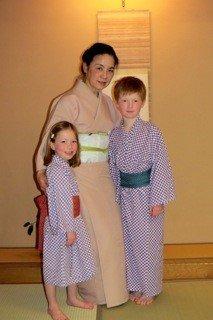 Setsuko with the children