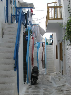 Mykonos, the staircases