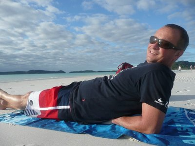 Scott at Whitehaven Beach