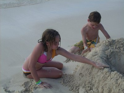Kids at the beach at Atlantis Paradise Island Bahamas