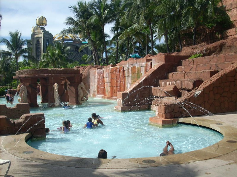 Pool at Atlantis Paradise Island in the Bahamas