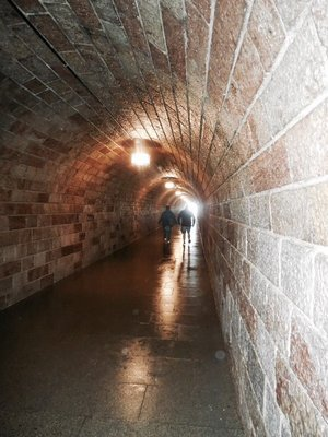 Marble tunnel into Eagles Nest