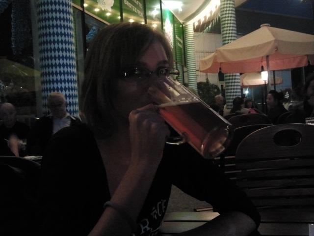 Me drinking beer