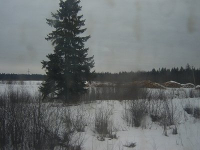 From train's window