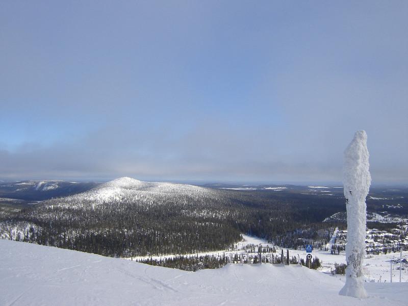 View down a 'black' slope