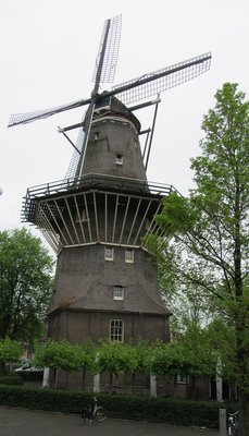 Only windmill left in Amsterdam