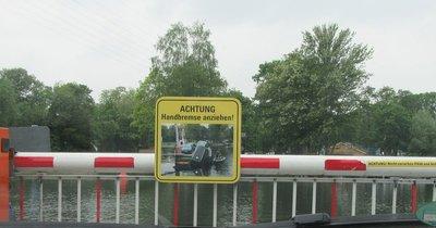 Warning on ferry
