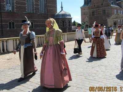 People in period costumes