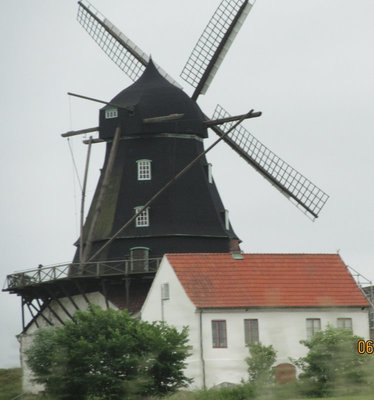 Charming windmill scene